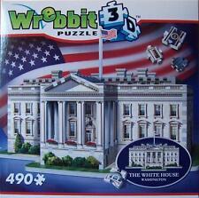 WREBBIT 3D JIGSAW PUZZLE MANSION COLLECTION THE WHITE HOUSE 490 PCS  #W3D-1007