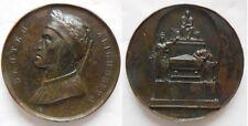 Leopoldo II Toscana medaglia cenotafio Dante basilica S.Croce Firenze 1831