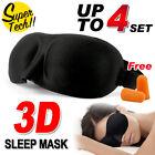 4x 3D Sleeping Eye Mask Blindfold Sleep Travel Shade Relax Cover Light Blinder