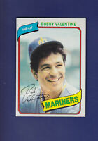 Bobby Valentine 1980 TOPPS Baseball #56 (NM+) Seattle Mariners