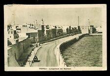 Libya TRIPOLI Lungomare del Bastioni 1930 PPC