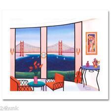 NEW Fanch Ledan SAILING SAN FRANCISCO  BAY S/N Ltd Ed Print Giclee on Canvas