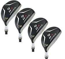 LEFT HANDED HAND MADE WHITE HYBRID 2 3 4 5 GOLF CLUBS SET TAYLOR FIT SENIOR FLEX