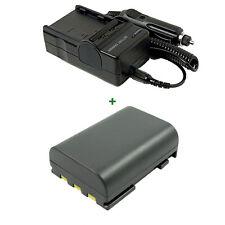 Battery + Charger CANON MD205 Mini DV Camcorder MD235 NB-2L MV900 MV890 MV901