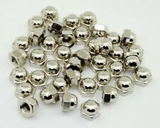 (40) Nickel Plated 3/8-16 Acorn Cap Finish Nut Chrome