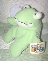 "Target Cuddle Zone Round Frog Pale Green Stuffed Plush Animal Toy NWT TARGET 10"""
