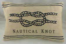 "18""x13"" NAUTICAL KNOT Belgian Tapestry Cushion Evans Lichfield LC290"