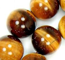 "16mm Yellow Tiger Eye Round Beads 15.5"""