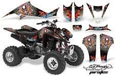 ATV Decal Graphic Kit Wrap For Suzuki LTZ400 Kawasaki KFX400 2003-2008 EHP WHITE