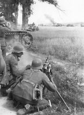 MG34 in Action With Panzers  WWII German WW2 MG42