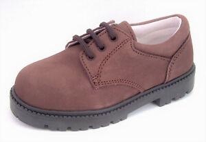 DE OSU/FARO -Boys Brown Leather Dress/Casual Oxford Shoes -European Size 7-10