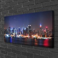 Leinwand-Bilder 100x50 Wandbild Canvas Kunstdruck Wolkenkratzer Skyline