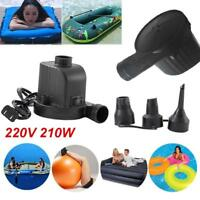 Electric Air Pump Inflator For Inflatable Air Bed Toy Boat Mattress AC 220V W7E3