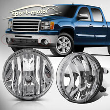 for 07-13 GMC Sierra 1500 2500 HD Clear Front Bumper Fog Lights Lamps Left+Right