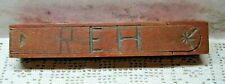 Antique wooden pencil box-Handed down in family-3 pc. good condition