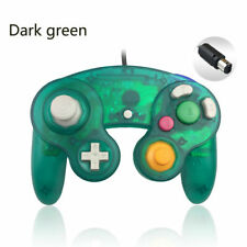 Deep Green Wired Shock Joystick Gamepad Controller For Nintendo Gamecube NGC