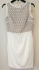Ivanka Trump Woman's Size 12 Ivory /Tan Lace Bodice Sleeveless Dress NWT