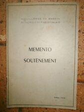 Mémento soutènement Houillères du bassin Du nord et du Pas de calais 1955