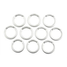 10x Mini Circle Round Carabiner Spring Snap Clip Hook Keychain Hiking Useful