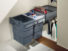 Recycle Kitchen 2 x 16L Pull out Cupboard Cabinet 400mm Under Sink Waste Bin