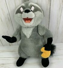 "Walt Disney World Pocahontas Meeko Plush 13"" Raccoon Movable Head and Arms"