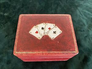 Antique playing card box