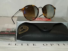 RAY BAN New Sunglasses Fleck Tortoise Silver Gradient Flash RB2447 11579U 52 145