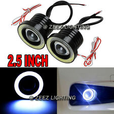 "2.5""LED COB Projector Fog Driving Lamp Angel Eye Halo Ring DRL Daytime Light C06"