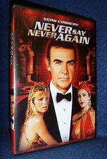 Never Say Never Again (DVD, 2000) Mint Disc/Insert•No Scratches•USA•Out-of-Print