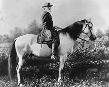 Civil War Confederate General ROBERT E LEE Glossy 8x10 Photo White Horse Print