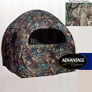 Pop Up Jungle Camping Hiking Doghouse Camo Hunting Blind Tent