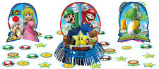 Super Mario Party Supplies Decorations TABLE DECORATING Kit With Confetti