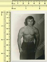 Shirtless Male Athletic Muscular Beefcake After Shower Wet Guy PHOTO 4X6 G492