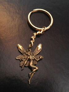 Hand Crafted Angel Fairy Dancing keyring chain Hand Bag Fairy door Charm LGW