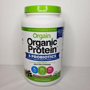 Orgain Plant Protein and Probiotics Powder, 2.74-pounds - Creamy Chocolate Fudge