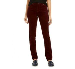 Charter Club Womens Size 12 Cherry Red Corduroy Lexington Straight Leg Pants NWT