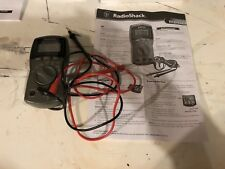 Radio Shack Model 22-813 Digital Multimeter With Test Leads And Instructions