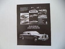 advertising Pubblicità 1976 FERRARI 308 GTB/LANCIA BETA/GAMMA/ALFA ROMEO EAGLE