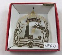 Nations Treasures Seal Beach Lighthouse Sea Horse Brass Metal Ornament Souvenir