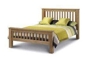 Julian Bowen Amsterdam HFE Double 4FT6 American Solid Oak Wood Bed Frame