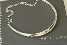"""Silpada NIB Sterling Silver """"Style Muse"""" 18 inch Bold Statement Necklace N3337"""
