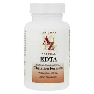 Arizona Natural - EDTA Calcium Disodium Chelation Formula 600 mg. - 100 Capsules