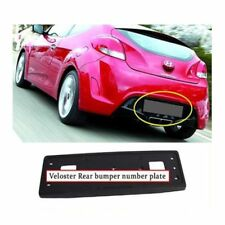 NEW Rear Bumper LICENSE PLATE FRAME BRACKET 2011-2013 HYUNDAI VELOSTER OEM Part