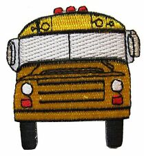 "#3875 1 7/8"" School Bus Embroidery Iron On Applique patch"