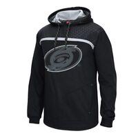 Carolina Hurricanes Reebok Cross Check Primary Logo Black Pullover Hoodie Men's