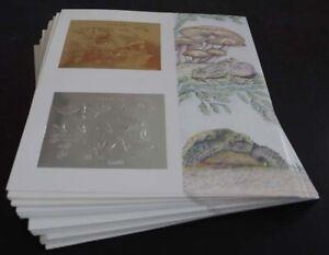 Motive; 40 Blocks Guyana Insekten mit Pilz/Eule silber/gold, ME 1200,-