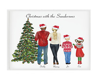Personalised Family Xmas Print,Christmas Decor,Family Customised,Festive Sign