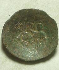 Rare genuine ancient BYZANTINE coin Manuel I Comnenus CROSS MARY Christ Gospels