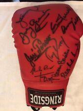 Champions Multi Signed Auto Ringside Boxing Glove by 12 ! Full JSA LOA