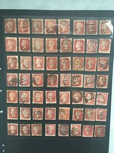 SG43/SG44. QV Selection of 56 Penny Red plates for sheet reconstruction. Lot 14